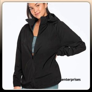 VS Pink Black Mockneck Anorak Windbreaker Jacket